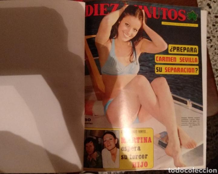 COMPILACIÓN ENCUADERNADA DE 10 EJEMPLARES DE LA REVISTA DIEZ MINUTOS (Coleccionismo - Revistas y Periódicos Modernos (a partir de 1.940) - Revista Diez Minutos)