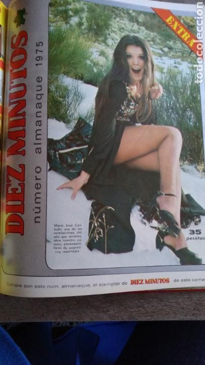 Coleccionismo de Revista Diez Minutos: COMPILACIÓN ENCUADERNADA DE 9 EJEMPLARES + ALMANAQUE 1975 DE LA REVISTA DIEZ MINUTOS - Foto 9 - 157727250