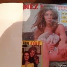 Coleccionismo de Revista Diez Minutos: COMPILACIÓN ENCUADERNADA DE 9 EJEMPLARES + ALMANAQUE 1975 DE LA REVISTA DIEZ MINUTOS. Lote 157727250