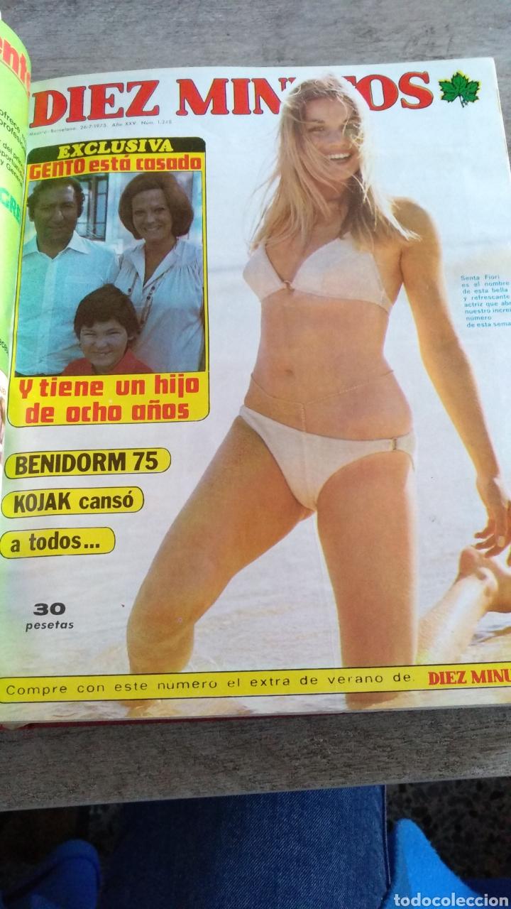 Coleccionismo de Revista Diez Minutos: COMPILACIÓN ENCUADERNADA DE 9 EJEMPLARES + ALMANAQUE 1975 DE LA REVISTA DIEZ MINUTOS - Foto 3 - 157727250