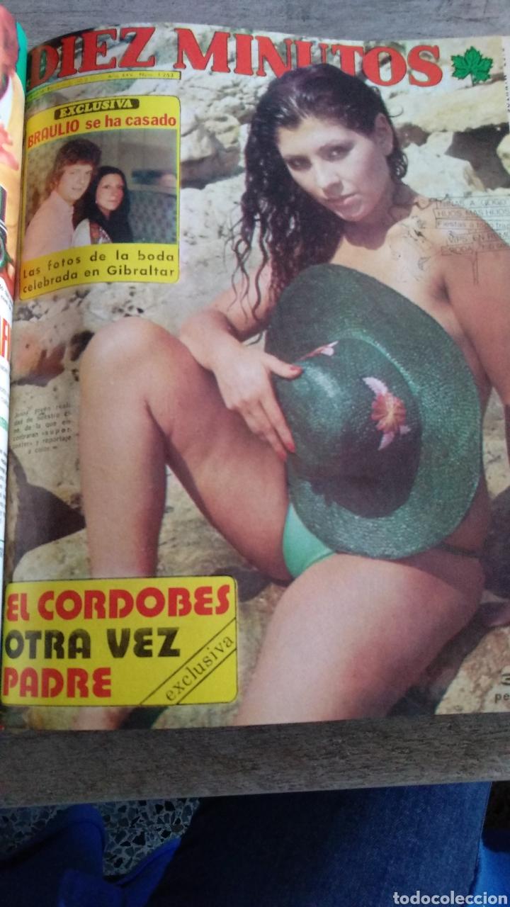 Coleccionismo de Revista Diez Minutos: COMPILACIÓN ENCUADERNADA DE 9 EJEMPLARES + ALMANAQUE 1975 DE LA REVISTA DIEZ MINUTOS - Foto 5 - 157727250