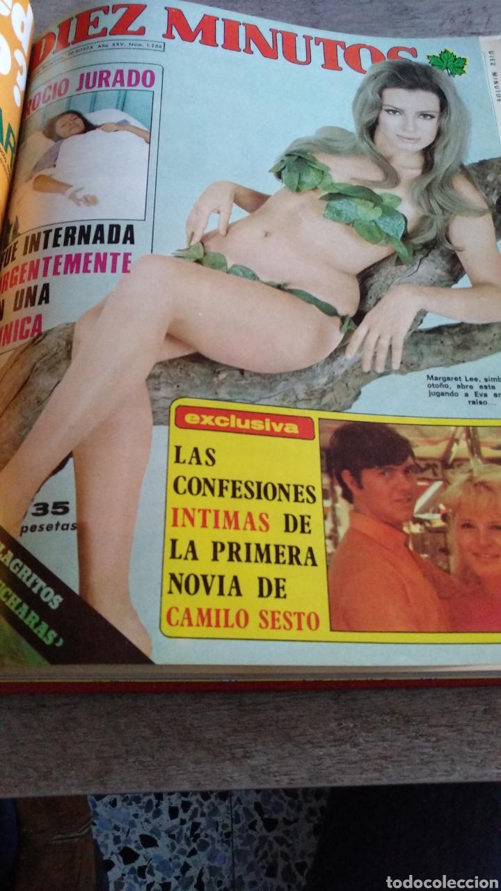 Coleccionismo de Revista Diez Minutos: COMPILACIÓN ENCUADERNADA DE 9 EJEMPLARES + ALMANAQUE 1975 DE LA REVISTA DIEZ MINUTOS - Foto 7 - 157727250