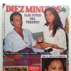 Coleccionismo de Revista Diez Minutos: DIEZ MINUTOS 1880 ISABEL PANTOJA CONCHA VELASCO ROSARIO FLORES ISABEL PISANO. Lote 157900014