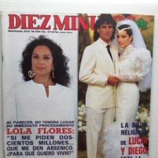 Coleccionismo de Revista Diez Minutos: DIEZ MINUTOS 1871 LOLA FLORES MEMORIAS CARMEN FLORES BARBARA REY. Lote 157900638