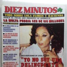 Coleccionismo de Revista Diez Minutos: DIEZ MINUTOS NÚMERO 1859 AÑO 1987 LOLA FLORES. Lote 157904358