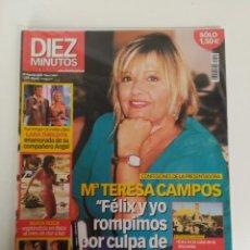 Coleccionismo de Revista Diez Minutos: REVISTA DIEZ MINUTOS, AGOSTO DEL AÑO 2002, MARÍA TERESA CAMPOS, NURIA ROCA, BELÉN ESTEBAN . Lote 158914846