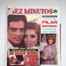 Coleccionismo de Revista Diez Minutos: ÚNICO DIEZ MINUTOS Nº 1491 POSTER GIGANTE CAMILO SESTO / MARIA JIMENEZ / MARIA JOSE CANTUDO. Lote 160573598