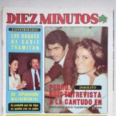 Coleccionismo de Revista Diez Minutos: DIEZ MINUTOS 1467 MARIA JOSE CANTUDO BARBARA REY POSTER ROBIN ELLIS ESPECIAL ANNE PARILLAUD. Lote 160671478