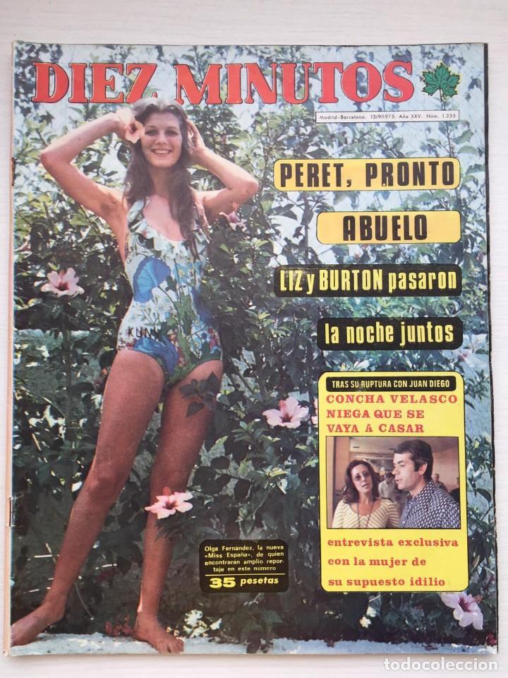 DIEZ MINUTOS 1255 CONCHA VELASCO / PERET / JOSE RUBIO / MASSIEL / JEANETTE (Coleccionismo - Revistas y Periódicos Modernos (a partir de 1.940) - Revista Diez Minutos)