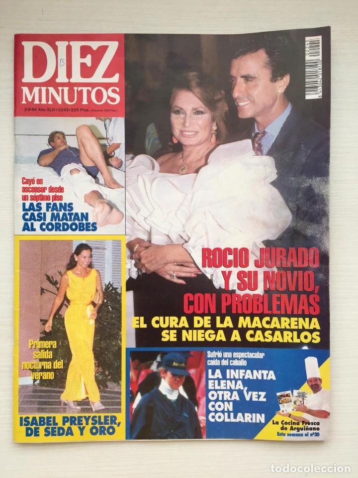 DIEZ MINUTOS 2245 ROCIO JURADO CORDOBES MARTA SANCHEZ (Coleccionismo - Revistas y Periódicos Modernos (a partir de 1.940) - Revista Diez Minutos)