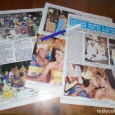 Collectionnisme de Magazine Diez Minutos: RECORTE : AMPARO MUÑOZ Y FLAVIO, SE CASAN POR EL RITO BALINES . DIEZ MINUTOS, JULIO 1983 (). Lote 161208090