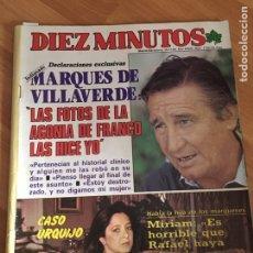 Coleccionismo de Revista Diez Minutos: DIEZ MINUTOS 1733 - MIRIAN DE LA SIERRA - SARA MONTIEL - ISABEL PANTOJA. Lote 161861794