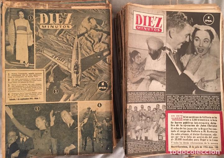 REVISTA DIEZ MINUTOS DEL NÚMERO 1 AL 100 (Coleccionismo - Revistas y Periódicos Modernos (a partir de 1.940) - Revista Diez Minutos)