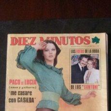 Coleccionismo de Revista Diez Minutos: CARMEN CERVERA-ROMY SCHNEIDER-CECILIA-ROCIO JURADO-CONCHA VELASCO-MARIA LUISA SAN JOSE-RAPHAEL. Lote 164946066