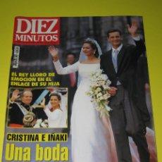 Coleccionismo de Revista Diez Minutos: DIEZ MINUTOS - UNA BODA POR AMOR - NÚM. 2408 - 10.1997 - CRISTINA E IÑAKI - 198 PÁG.. Lote 165488526