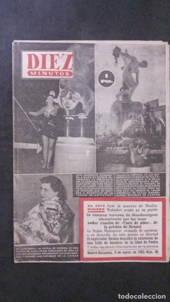 DIEZ MINUTOS Nº 80-1953 (Coleccionismo - Revistas y Periódicos Modernos (a partir de 1.940) - Revista Diez Minutos)