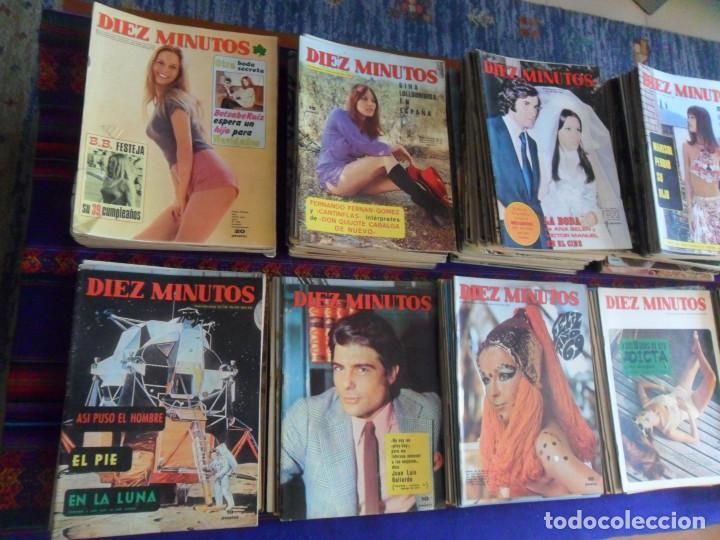 Coleccionismo de Revista Diez Minutos: LOTE 202 REVISTAS DIEZ MINUTOS DESDE Nº 871 A 1298 DE 1967 A 1976 MÁS 2 DE 1982 BUEN ESTADO GENERAL. - Foto 2 - 170015716