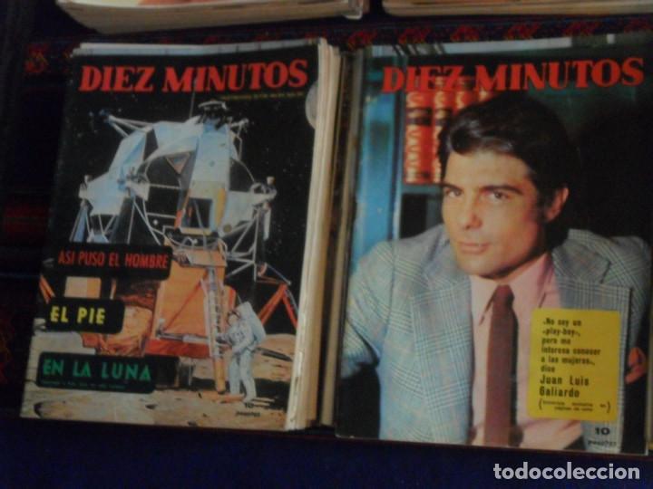Coleccionismo de Revista Diez Minutos: LOTE 202 REVISTAS DIEZ MINUTOS DESDE Nº 871 A 1298 DE 1967 A 1976 MÁS 2 DE 1982 BUEN ESTADO GENERAL. - Foto 4 - 170015716