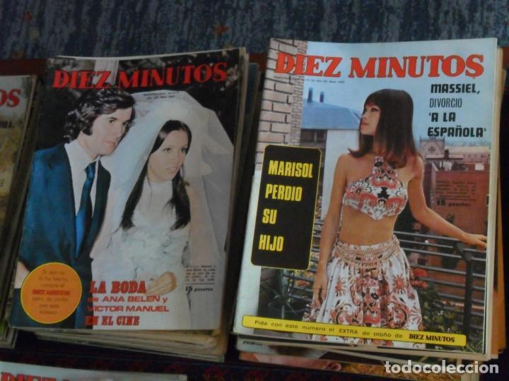 Coleccionismo de Revista Diez Minutos: LOTE 202 REVISTAS DIEZ MINUTOS DESDE Nº 871 A 1298 DE 1967 A 1976 MÁS 2 DE 1982 BUEN ESTADO GENERAL. - Foto 5 - 170015716