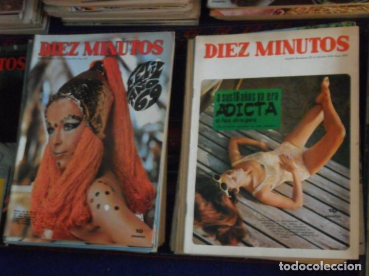 Coleccionismo de Revista Diez Minutos: LOTE 202 REVISTAS DIEZ MINUTOS DESDE Nº 871 A 1298 DE 1967 A 1976 MÁS 2 DE 1982 BUEN ESTADO GENERAL. - Foto 6 - 170015716