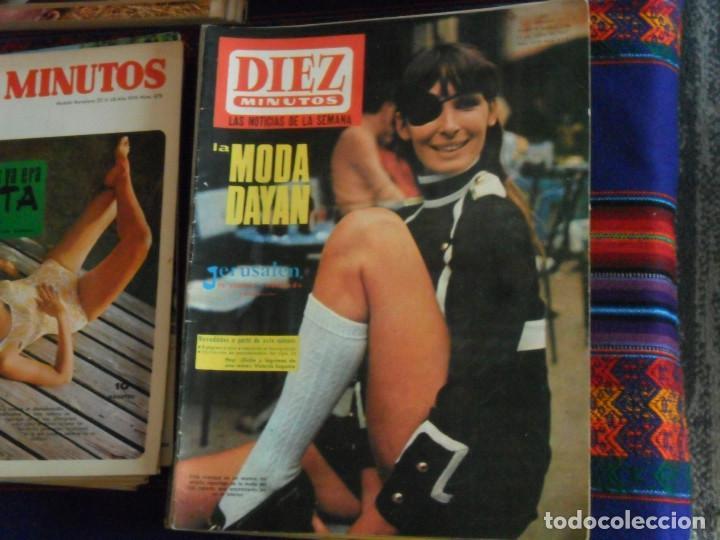 Coleccionismo de Revista Diez Minutos: LOTE 202 REVISTAS DIEZ MINUTOS DESDE Nº 871 A 1298 DE 1967 A 1976 MÁS 2 DE 1982 BUEN ESTADO GENERAL. - Foto 7 - 170015716