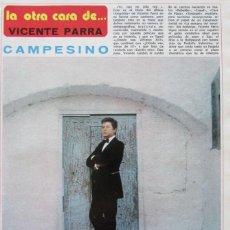 Coleccionismo de Revista Diez Minutos: RECORTE REVISTA DIEZ MINUTOS Nº 1174 1974 VICENTE PARRA 5 PGS. Lote 170203472