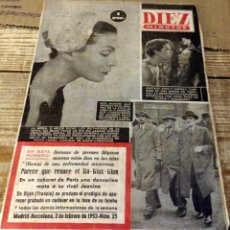 Coleccionismo de Revista Diez Minutos: REVISTA DIEZ MINUTOS Nº 23 AÑO 1952. LOS DICTADORES DE LA MODA. GUSTAVO ROJO Y LUDMILLA TCHERINA.. Lote 170500080