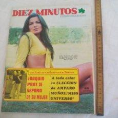 Coleccionismo de Revista Diez Minutos: REVISTA DIEZ MINUTOS NUM. Nº 1197 1974. JOAQUIN PRAT AMPARO MUÑOZ MISS UNIVERSO, RAMON RIVA POSTER. Lote 171462954