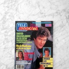 Coleccionismo de Revista Diez Minutos: TELE INDISCRETA - 1985 - DAVID HASSELHOFF, DIRK BENEDICT, SERIE V, MERCEDES RESINO, ROCK HUDSON. Lote 171757153