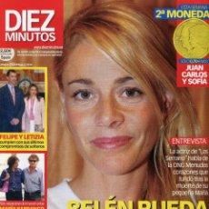 Coleccionismo de Revista Diez Minutos: DIEZ MINUTOS -FELIPE Y LETICIA (CONTIENE 2ª MONEDA) - MARIA BARRANCO - 14/5/2004 MUY NUEVA. Lote 171821447