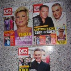Coleccionismo de Revista Diez Minutos: DIEZ MINUTOS - LOTE DE 3 REVISTAS.. Lote 172230788