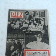 Coleccionismo de Revista Diez Minutos: REVISTA DIEZ MINUTO Nº 51 AGOSTO 1952. EN ESTE NÚMERO: TESORO DE ROMMEL, JEFE MORMONES EN ESPAÑA.... Lote 172317335