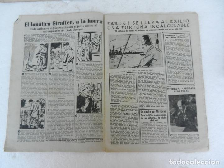 Coleccionismo de Revista Diez Minutos: REVISTA DIEZ MINUTO Nº 49 AGOSTO 1952. EN ESTE NÚMERO: MUERTE DE EVA PERÓN, FARUK I ABANDONA EGIPTO. - Foto 3 - 172317400