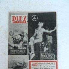 Coleccionismo de Revista Diez Minutos: REVISTA DIEZ MINUTO Nº 52 AGOSTO 1952. EN ESTE NÚMERO:CRIMEN DE LURS EN FRANCIA, CASAROLI ATRAPADO... Lote 172317545