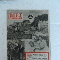 Coleccionismo de Revista Diez Minutos: REVISTA DIEZ MINUTO Nº 53 AGOSTO 1952. EN ESTE NÚMERO: ASESINATO EN LA CORUÑA, CRIMEN DE LURS..... Lote 172317605