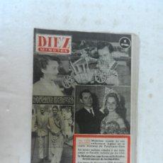 Coleccionismo de Revista Diez Minutos: REVISTA DIEZ MINUTO Nº 55 SEPTIEMBRE 1952. EN ESTE NÚMERO: MISTERIOSA MUERTE DE ENFERMERA, MALASIA... Lote 172317833