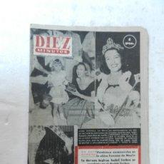 Coleccionismo de Revista Diez Minutos: REVISTA DIEZ MINUTO Nº 57 SEPTIEMBRE 1952. EN ESTE NÚMERO: 25 ENVENENADOS EN MOULIN, HITLER Y ..... Lote 172317904