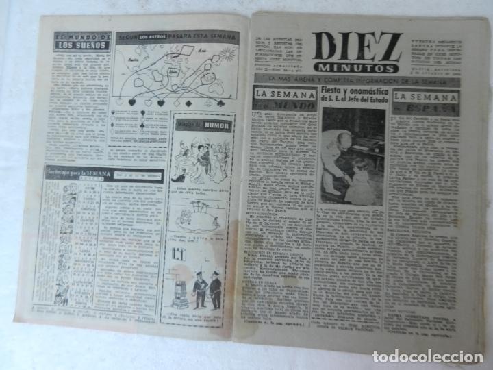 Coleccionismo de Revista Diez Minutos: REVISTA DIEZ MINUTO Nº 58 OCTUBRE 1952. EN ESTE NÚMERO: SUBMARINO SIBILA, CHARLOT VUELVE A LONDRES.. - Foto 2 - 172317979