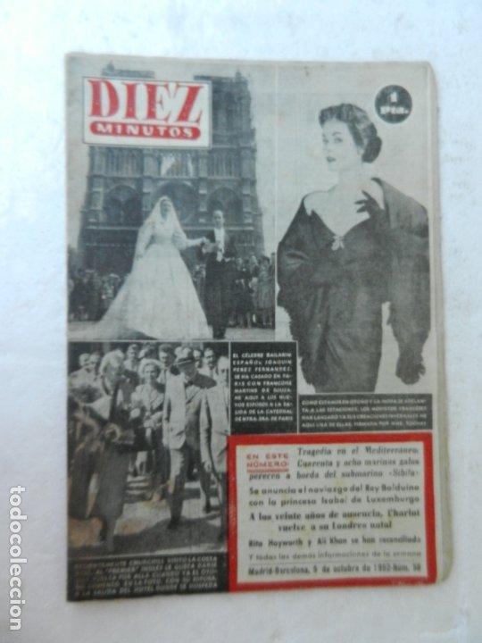 REVISTA DIEZ MINUTO Nº 58 OCTUBRE 1952. EN ESTE NÚMERO: SUBMARINO SIBILA, CHARLOT VUELVE A LONDRES.. (Coleccionismo - Revistas y Periódicos Modernos (a partir de 1.940) - Revista Diez Minutos)