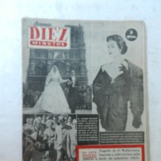 Coleccionismo de Revista Diez Minutos: REVISTA DIEZ MINUTO Nº 58 OCTUBRE 1952. EN ESTE NÚMERO: SUBMARINO SIBILA, CHARLOT VUELVE A LONDRES... Lote 172317979