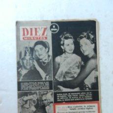 Coleccionismo de Revista Diez Minutos: REVISTA DIEZ MINUTO Nº 59 OCTUBRE 1952. EN ESTE NÚMERO: BOMBA ATÓMICA INGLESA, FANTASMA, COREA.... Lote 172318045
