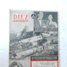 Coleccionismo de Revista Diez Minutos: REVISTA DIEZ MINUTO Nº 60 OCTUBRE 1952. EN ESTE NÚMERO: CATÁSTROFE FERROVIARIA EN LONDRES.... Lote 172318107