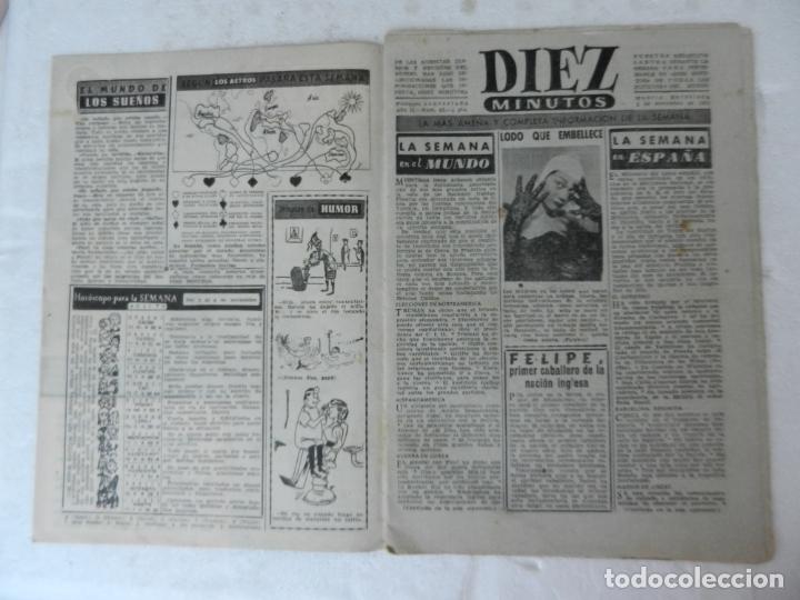Coleccionismo de Revista Diez Minutos: REVISTA DIEZ MINUTO Nº 62 NOVIEMBRE 1952. EN ESTE NÚMERO: MAU-MAU, GIULIANO II, RIÑÓN ARTIFICIAL... - Foto 2 - 172318364