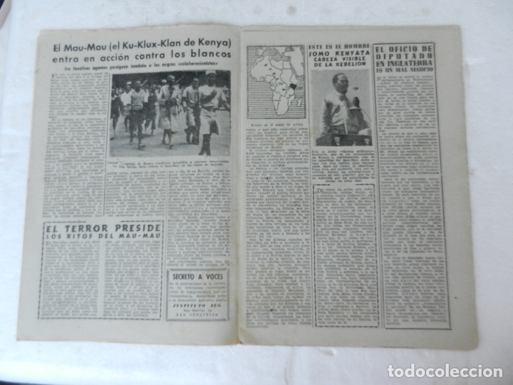 Coleccionismo de Revista Diez Minutos: REVISTA DIEZ MINUTO Nº 62 NOVIEMBRE 1952. EN ESTE NÚMERO: MAU-MAU, GIULIANO II, RIÑÓN ARTIFICIAL... - Foto 3 - 172318364