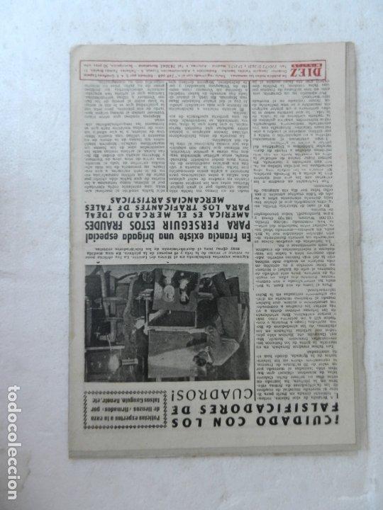 Coleccionismo de Revista Diez Minutos: REVISTA DIEZ MINUTO Nº 62 NOVIEMBRE 1952. EN ESTE NÚMERO: MAU-MAU, GIULIANO II, RIÑÓN ARTIFICIAL... - Foto 4 - 172318364