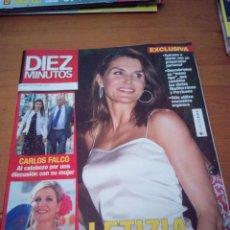 Coleccionismo de Revista Diez Minutos: REVISTA DIEZ MINUTOS. MAYO 2019. LETIZIA. CARLOS FALCO. MAXIMA DE HOLANDAA. BBB. Lote 172324209