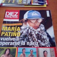 Coleccionismo de Revista Diez Minutos: REVISTA DIEZ MINUTO. MAYO 2019. MARIA PATIÑO. LARA ALVAREZ. COLATE Y PANTOJA. VICTORIA FEDERICA. BBB. Lote 172324244