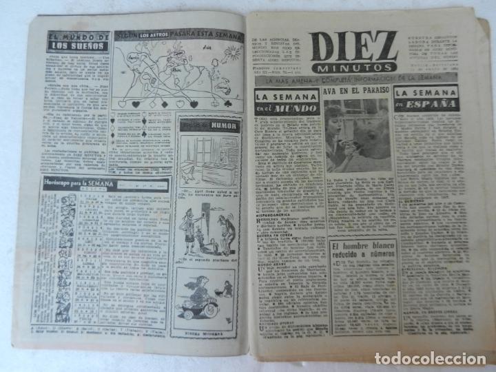 Coleccionismo de Revista Diez Minutos: REVISTA DIEZ MINUTOS Nº 72 ENERO 1953. EN ESTE NÚMERO: NAUFRAGIO DE UN BUQUE, NIÑA DE MANRESA... - Foto 2 - 172335990