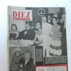Coleccionismo de Revista Diez Minutos: REVISTA DIEZ MINUTOS Nº 82 MARZO 1953. EN ESTE NÚMERO: EL GIULIANO DE AMÉRICA, LOLA FLORES.... Lote 172344945