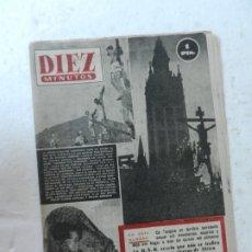 Coleccionismo de Revista Diez Minutos: REVISTA DIEZ MINUTOS Nº 83 MARZO 1953. EN ESTE NÚMERO: TERREMOTO EN TURQUÍA, SEMANA SANTA..... Lote 172345065